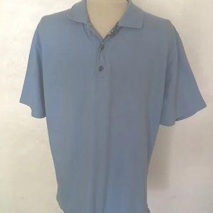 Men's Robert Graham Classic Fit Blue Polo Shirt XL